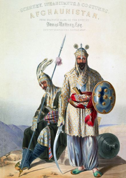 Afghan Royal Soldiers of the Durrani Empire Afghanistan 1847. Print/Poster (5456)